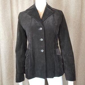 Banana Republic brown suede blazer jacket Sz XS